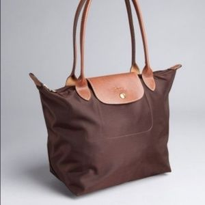 Brown Le Pliage Small Longchamp Bag